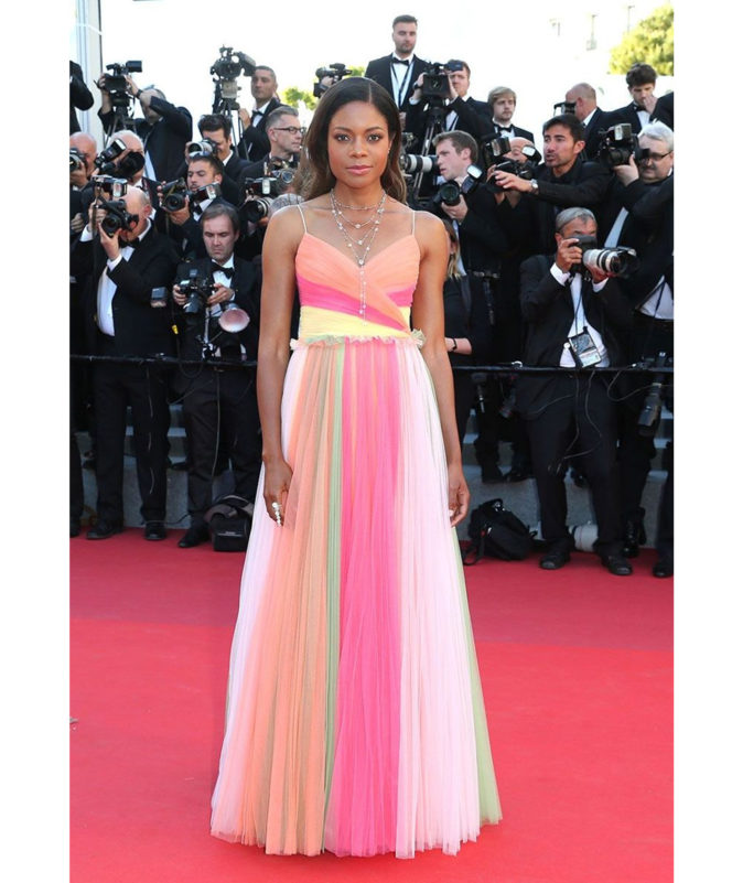 'Ismael's Ghosts' & Opening Gala Red Carpet – May 17 2017 Naomie Harris in Gucci and Atelier Swarovski fine jewellery