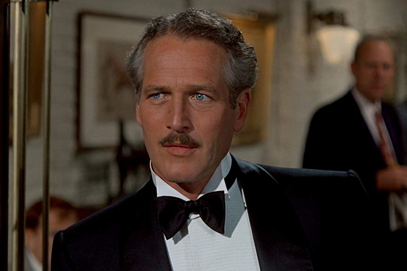 paul newman black tie